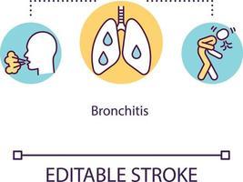 icono del concepto de bronquitis vector