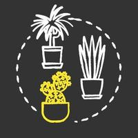 Easy to care plants chalk RGB color concept icon vector