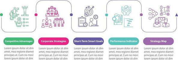 Successful business vector infographic template