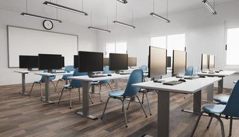 interior moderno del aula foto