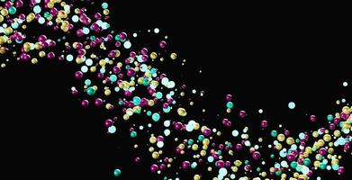 Brightly colored spheres photo