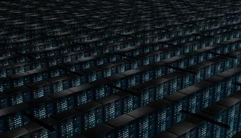 Infinite room of network servers photo