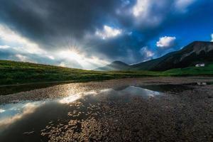 Small alpine lake photo