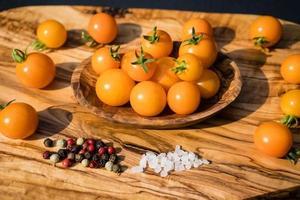 orange cocktail Tomatoes Solanum Lycopersicum photo
