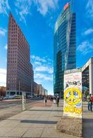 Potsdamer Platz with remains of the Berlin Wall photo