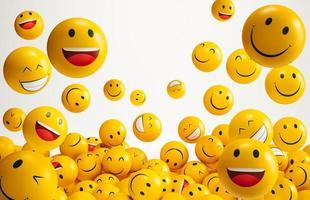 World smile day emojis arrangement photo