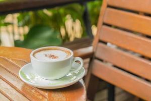Hot mocha in coffee shop photo