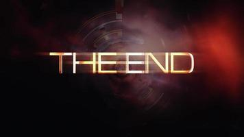 The End Abstract Technology Futuristic Tunnel video