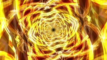 Golden Digital Futuristic Hypnotic Psychedelic Tunnel video