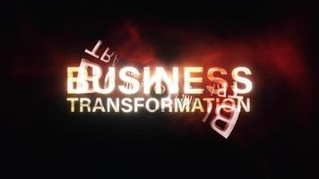 Business Transformation Cinematic Technology Glitch Animation Loop video