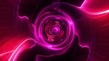 Colorful Red Pink and Purple Swirl Wire Mesh Tunnel video