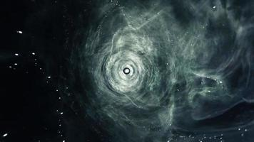Space Flight Green and Blue Wormhole Tunnel video