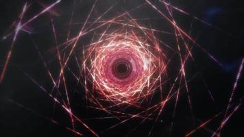 Loop Wiremesh Neon Tunnel Pattern video