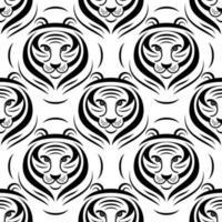 tiger logo seamless vector pattern