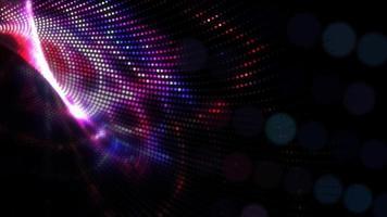 lueur d'art numérique de technologie sombre video