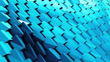 Blue Geometric Ornament Tiles Objects Wave video