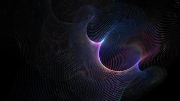 Technology Digital Art Spiral Glowing Particles video