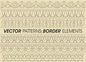 Vector Border Patterns Design