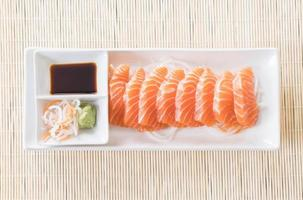 Salmon raw sashimi - Japanese food photo