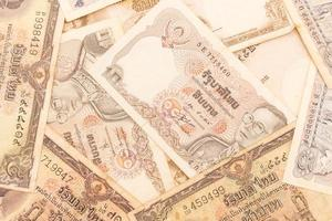 Close up view of cash money Bhat bills photo