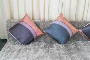 Pillow on sofa decoration in living room photo