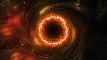 boucle de trou noir rouge orange brillant video