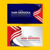 Malaysia flag banners template vector