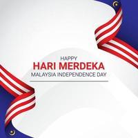 Malaysia ribbon flag banner template. vector