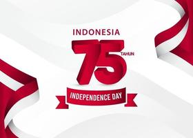 Indonesia flag banners template vector