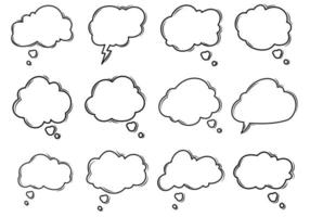 Thought Bubble Doodle Collection vector