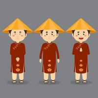 Vietnam Character with Various Expression vector