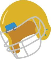 Sports Wear Vector Graphics. Yellow Rugby Helmet