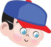 Cute Boy Child Face. Smiling Face. Happy Face. vector