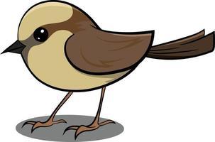 gorrión marrón volando en el aire. lindo pájaro marrón. vector