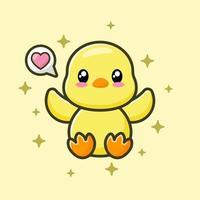 Cute duck vector image