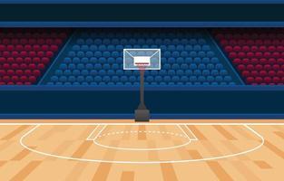 Basketball Stadium Background Concept vector