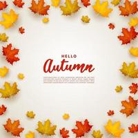 Autumn background with scattered leaves. vector