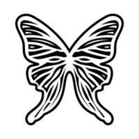 butterfly tattoo tribal illustration vector