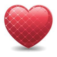 realistic 3d love icon illustration vector