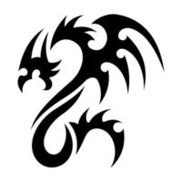 dragon tattoo tribal illustration vector