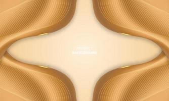 Abstract luxury golden lines background with glow effect vector