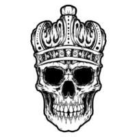 skull design illustration vector