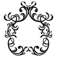 wedding carved ornament frame vector