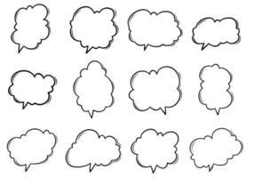 Set of Speech Bubble Icon vector