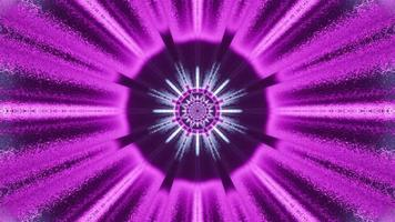 diseño circular de neón brillante 4k uhd ilustración 3d foto