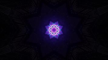 Neon star in darkness 4K UHD 3D illustration photo