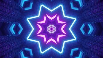 Symmetric star shaped corridor 4K UHD 3D illustration photo