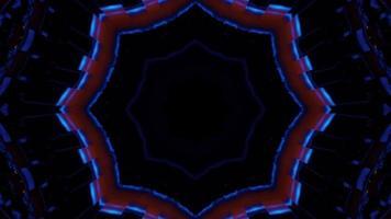 Dim neon ornament in darkness 4K UHD 3D illustration photo
