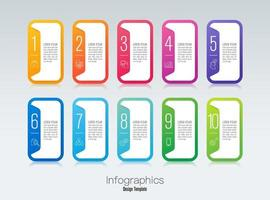Infographics design and icons with 10 steps vector