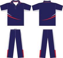 Cricket Shirt And Pant vector